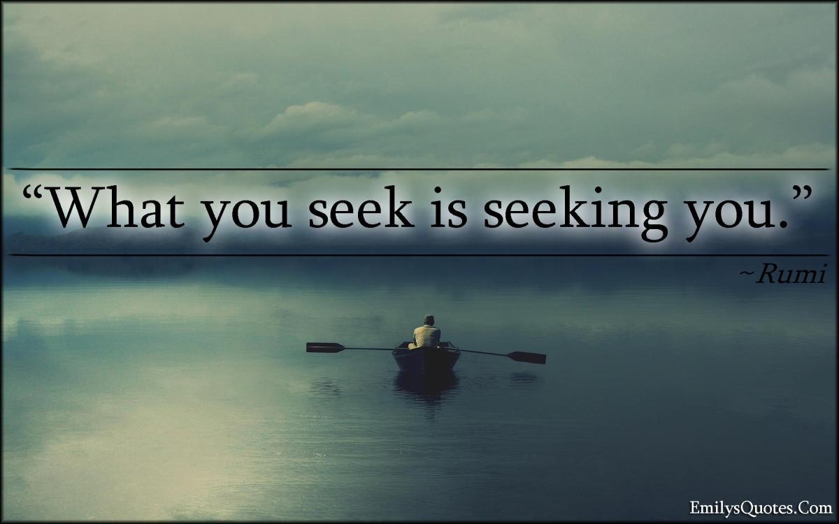 Everything You Seek Is Seeking You Alternate Dimension